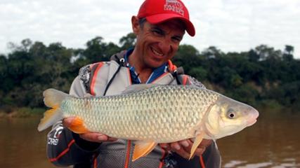 Pesca de piaparas e surubins no rio Paraná