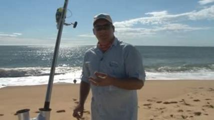 Pescaria pé na areia na Praia do Estaleiro