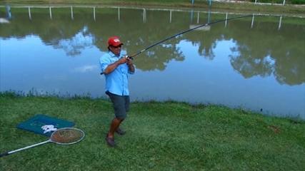 Pescaria de fundo com isca de massa