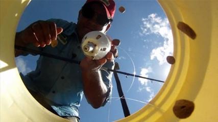 Pescaria com chumbo e boia cevadeira