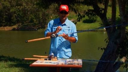 Diferentes peixes na isca artificial e natural