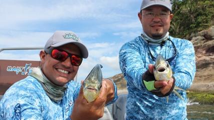 Pescaria de pampos na costeira