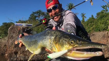 Pesca desembarcada na corredeira