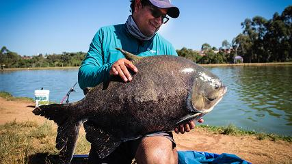 Tomada de linha e muita ação no  Pesqueiro do Italiano