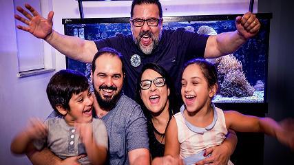 A paixão da família Maia pelo aquarismo