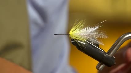 Streamer e wet fly com penas