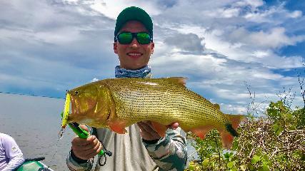 Trocando experiências na pescaria de dourados