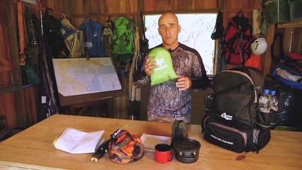 Como montar a mochila para pesca exploratória