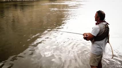 O rio não está para peixe