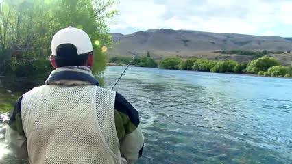 Trutas argentinas em pesca embarcada