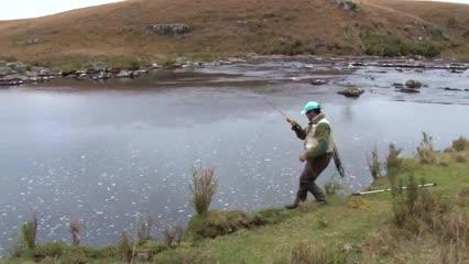Pesca de trutas, imagens fantásticas