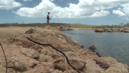 Pescaria de robalo no canal