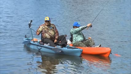 Pescaria de lambaris e carás com caiaques