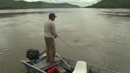 Em busca dos peixes de couro do Rio Araguaia