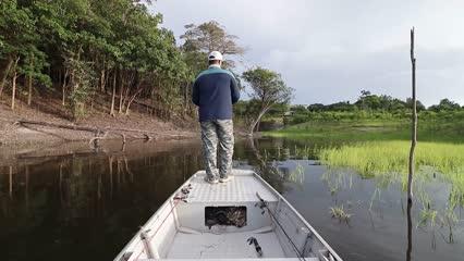 Pescaria de tucunaré no Rio Juma