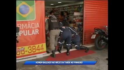 Homem foi baleado  no bairro do Pinheiro