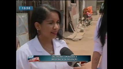 ONG ensina comunidade a importância da prevenção