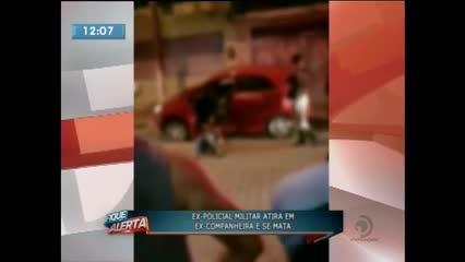 Ex-policial militar atirou na ex-companheira e acabou cometendo suicídio