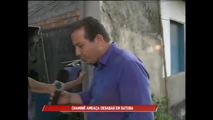 Moradores de Satuba reclamam de chaminé desativa que ameaça cair