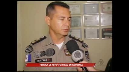 """Um homem com o apelido de """"Branca de Neve"""" foi preso em Arapiraca"""