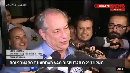 Ciro Gomes surpreende ao responder apoiador de Bolsonaro durante entrevista ao vivo
