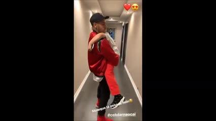 Neymar e Davi Lucca protagonizam momento fofo nas redes sociais