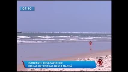 Adolescente desapareceu após pular do emissário submarino na Praia do Sobral