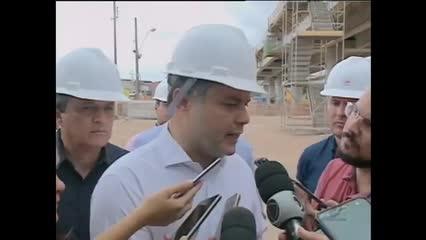 Governador Renan Filho visita obras do viaduto da PRF