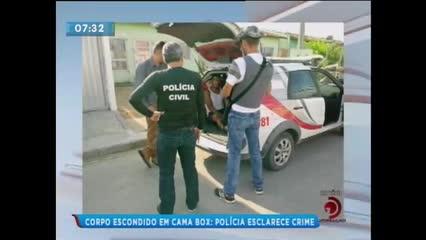Corpo de homem assassinado foi encontrado dentro de cama box