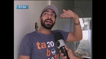 Moradores do Pinheiro estão assustados com novas rachaduras