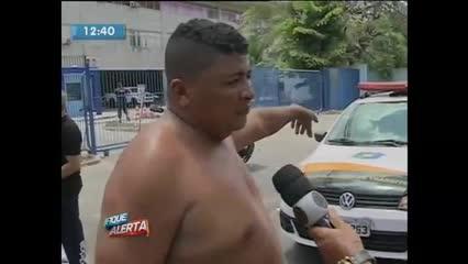 Mulher ficou ferida em acidente de trânsito na Av. Fernandes Lima