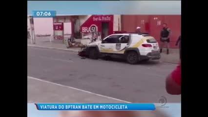 Viatura do BPTran bateu em moto durante perseguição
