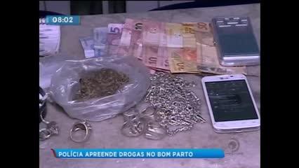Polícia apreendeu drogas no Bom Parto