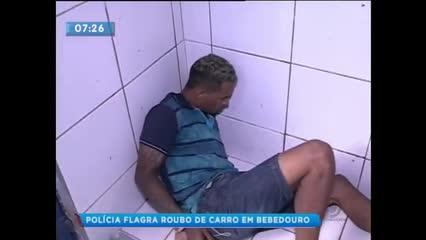 Polícia flagrou roubo de carro em Bebedouro