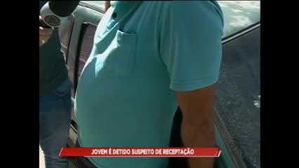 Jovem foi detido suspeito de receptação de uma moto