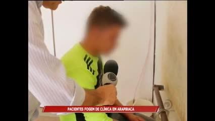 Pacientes fogem de clinica de reabilitação em Arapiraca