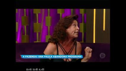 Ana Paula Renault abandona gravação do Programa do Porchat
