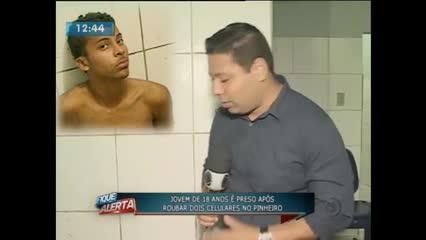 Jovem foi preso acusado de praticar assaltos no bairro do Pinheiro