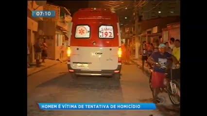 Homem foi vítima de tentativa de homicídio no bairro do Jacintinho