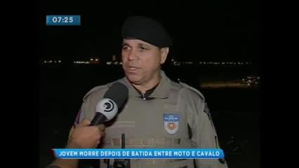 Motociclista morreu após colidir em cavalo na BR-104, em Rio Largo