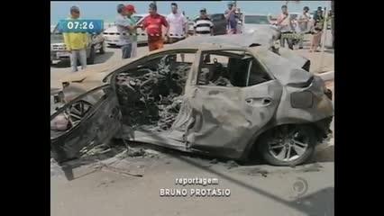 Acidente envolvendo sete veículos na orla de Maceió