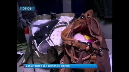 Casal foi preso acusado de praticar assaltos na região da Santa Lúcia