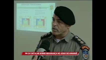 PM dá detalhes sobre segurança no jogo entre CSA e Atlético-GO