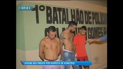Três jovens foram presos durante operação policial no Vergel do Lago