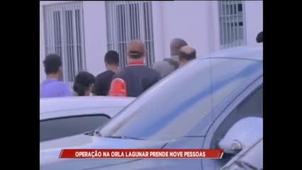 Operação na Orla Lagunar prende nove pessoas