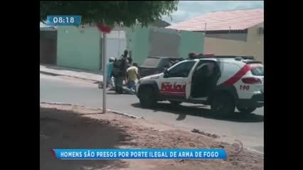 Três homens foram presos por porte ilegal de arma em Arapiraca