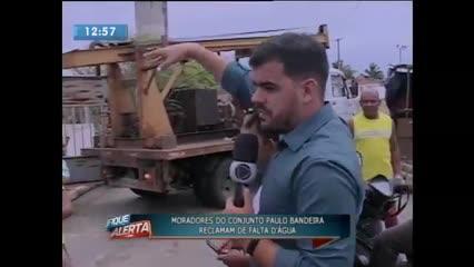 Moradores do Conjunto Paulo Bandeira reclamam de falta d'água