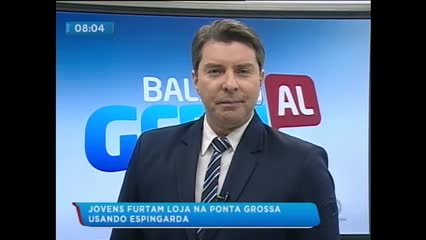 Dupla foi detida após assaltar loja na Ponta Grossa