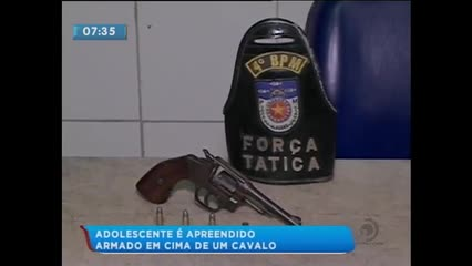 Adolescente foi apreendido acusado de cometer assaltos no Conjunto Rosane Collor