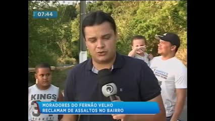 Moradores reclamam dos constantes assaltos em Fernão Velho